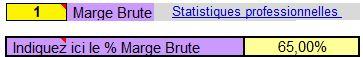 Connaître sa Marge Brute